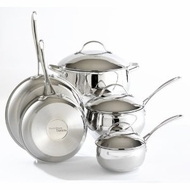 Hamilton Beach 94711 8 Piece Stainless Steel Cookware Set - click to enlarge