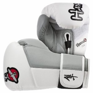 Hayabusa Official MMA Tokushu 16oz Sparring Gloves, White/Grey - click to enlarge