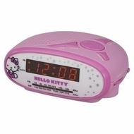 Hello Kitty AM/FM Alarm Clock Radio KT2051B (Pink) - click to enlarge