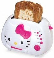 Hello Kitty KT5211 2-Slice Wide slot toaster with cool Touch Exterior - click to enlarge