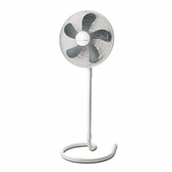 Holmes HASF1516 16 inch Oscillating Stand Fan with Elegant Swirl Base, White - click to enlarge