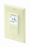 Honeywell RPLS541A1001/U EconoSWITCH 7-Day Programmable Timer for Lights, Light Almond - click to enlarge