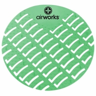 Hospeco Airworks AWUS005-BX Dark Green Evergreen Urinal Screen - click to enlarge