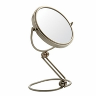 Jerdon MC449N 5.5 Inch Folding Travel Mirror 10X Magnification - Nickel Finish - click to enlarge