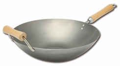 Joyce Chen 21-9978, Classic Series 14 Inch Carbon Steel Wok - click to enlarge