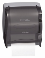 Kimberly-Clark IN-SIGHT Lev-R-Matic 09767 Roll Towel Dispenser, Smoke - click to enlarge