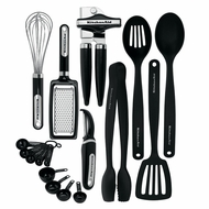 Kitchenaid Classic 17-piece Tools and Gadget Set, Black - click to enlarge