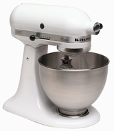KitchenAid K45SS Classic 250-Watt 4-1/2-Quart Stand Mixer, White - click to enlarge