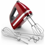 KitchenAid KHM920ER 9-Speed Digital Hand Mixer, Empire Red (includes BONUS dough hooks, whisk, milk shake liquid blender rod - click to enlarge