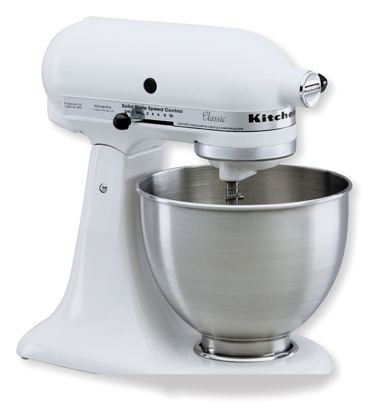 KitchenAid KSM75WH Classic Plus Tilt-Head 4-1/2-Quart Stand ...