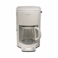 Krups FME211 12-Cup Programmable Coffee Maker (White) - click to enlarge