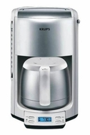 Krups FMF511 10 Cup White Coffee Maker w/ Thermal Carafe - click to enlarge