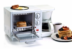 Maxi-Matic EBK-200 Elite Cuisine 3-in-1 Breakfast Station 4-Cup Coffee Maker White - click to enlarge