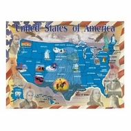 Melissa and Doug 0500 pc Map of the U.S.A. Cardboard Jigsaw - click to enlarge