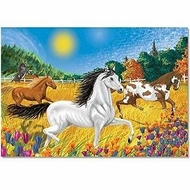Melissa and Doug 100 pc Horses in the Meadow Cardboard Jigsaw - click to enlarge