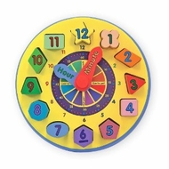 Melissa and Doug 159  Wooden Shape Sorting Clock - click to enlarge