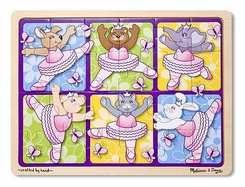 Melissa and Doug 1897 Ballerinas and Butterflies Jigsaw Puzzle - click to enlarge