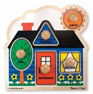 Melissa and Doug #2053 First Shapes Knob Puzzle - click to enlarge