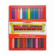 Melissa and Doug 24 Trinagular Crayons #4136 - click to enlarge