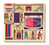 Melissa and Doug #2418 Wooden Princess Stamp Set - click to enlarge