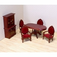 Melissa and Doug 2586 Deluxe Doll House Dining Room Furniture - click to enlarge