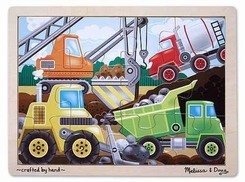 Melissa and Doug #2933 Construction Site Jigsaw Puzzle (12 pcs) - click to enlarge