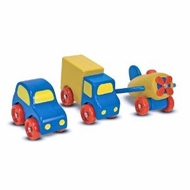 Melissa and Doug 3000 Wooden First Vehicles Set - click to enlarge