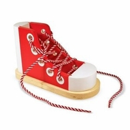 Melissa and Doug 3018 Wooden Lacing Sneaker - click to enlarge