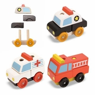 Melissa and Doug #3075 Stacking Emergency Vehicles - click to enlarge