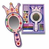 Melissa and Doug 3096 Wooden Princess Mirror - click to enlarge