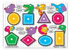 Melissa and Doug #3285 Shapes Peg Puzzle - click to enlarge