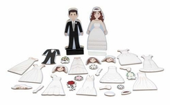 Melissa and Doug #3545 Bride and Groom Magnetic Dress-Up Set - click to enlarge