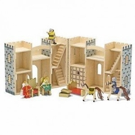 Melissa and Doug 3702 Fold and Go Wooden Castle - click to enlarge