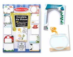 Melissa and Doug #3768 Complete the Picture Pad - click to enlarge