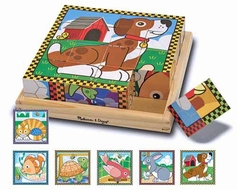 Melissa and Doug #3771 Pets Cube Puzzle - click to enlarge