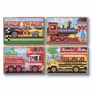 Melissa and Doug 3794 Vehicles Wooden Puzzles in a Box - click to enlarge