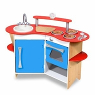 Melissa and Doug 3950 Cook's Corner Wooden Kitchen - click to enlarge
