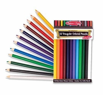 Melissa and Doug 4119 Jumbo Triangular Colored Pencils (set of 12) - click to enlarge