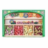 Melissa and Doug 4178 Flower Power Woden Bead Set - click to enlarge
