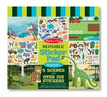 Melissa and Doug #4196 Habitats Reusable Sticker Pad - click to enlarge