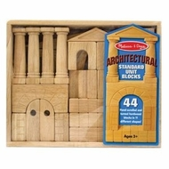 Melissa and Doug 4201 Architectural Unit Blocks: 44 Blocks - click to enlarge