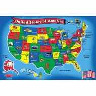 Melissa and Doug 440: USA Map 51-Piece Floor Puzzle - click to enlarge