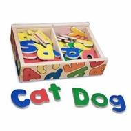Melissa and Doug 448 Magnetic Wooden Alphabet - click to enlarge