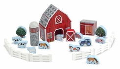 Melissa and Doug #531: Farm Blocks Play Set - click to enlarge