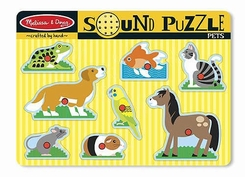 Melissa and Doug #730 Pets Sound Puzzle - click to enlarge
