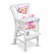 Melissa and Doug 788 Wooden Doll High Chair - click to enlarge
