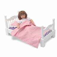 Melissa and Doug 789 Wooden Doll Furniture - Bed - click to enlarge