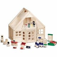 Melissa and Doug 795 Wooden Furnished Dollhouse - click to enlarge