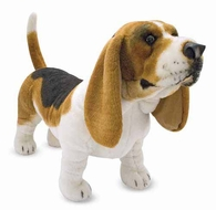 Melissa and Doug Basset Hound : Lifelike Plush - click to enlarge