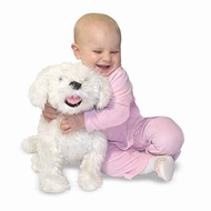 Melissa and Doug Bichon Frise : Lifelike Plush - click to enlarge